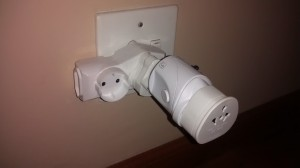 What I needed to plug in my electric toothbrush!
